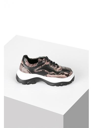 Pier Lucci Hakiki Deri Sneakers Renkli